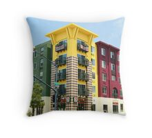 7-11 building Little Italy, San Diego Throw Pillow