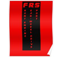 FRS Cut - Front Engine Rear Wheel Drive Sport  Poster