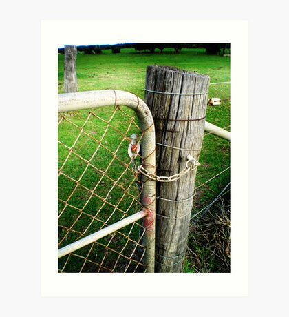Fence Post Art Print