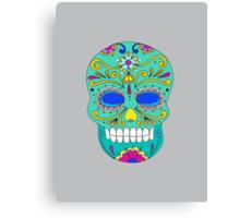 Sugar skull mexican folk art Canvas Print