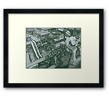 Hippie Bus Apartments Framed Print