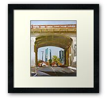 Beneath The Bridge Framed Print