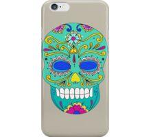 Sugar skull mexican folk art iPhone Case/Skin