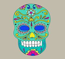 Sugar skull mexican folk art by tanabe