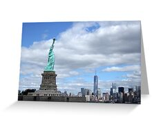 Statue of Liberty and the World Trade Center Greeting Card