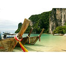 Long-tail boats Photographic Print