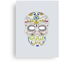 Sugar skull mexican folk art Canvas Print