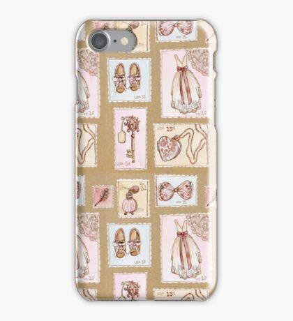 Vintage stamp pattern iPhone Case/Skin