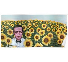 Peter and Sunflowers Poster