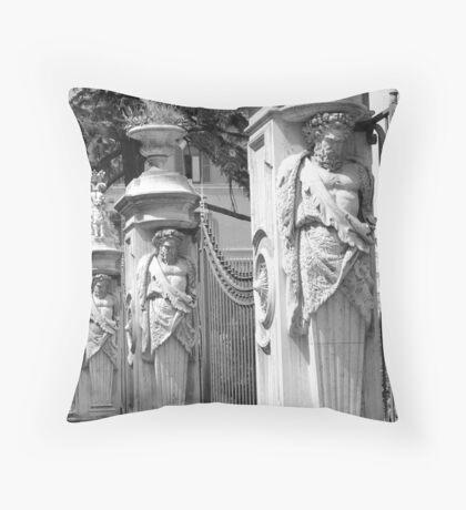 Roman Fence Throw Pillow