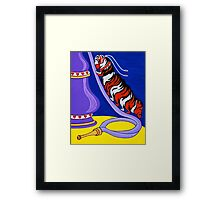 The Caterpillar and Hookah Framed Print