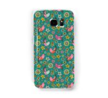 Doodle Birds Floral Pattern Samsung Galaxy Case/Skin