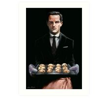 Moriarty with Cookies Art Print