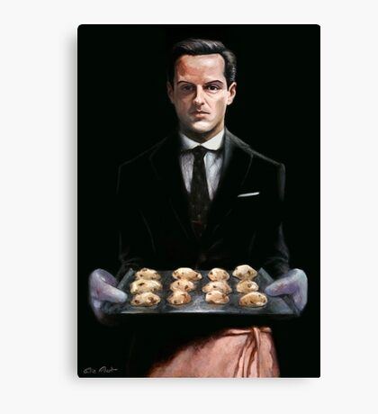 Moriarty with Cookies Canvas Print