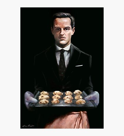 Moriarty with Cookies Photographic Print