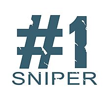 Sniper Mug Design (BLU) Photographic Print