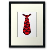 Tie hearts suit tuxedo Framed Print