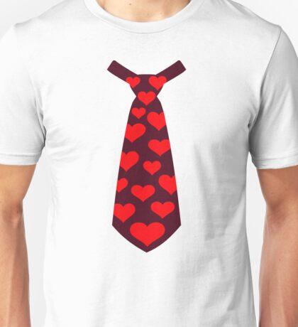 Tie hearts suit tuxedo Unisex T-Shirt