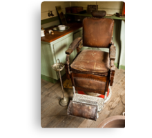 The Old Barber's Chair Canvas Print
