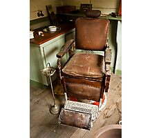 The Old Barber's Chair Photographic Print