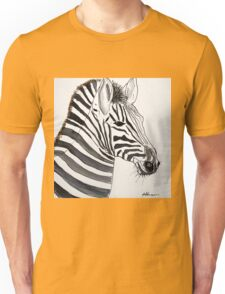 STRIPED - ZEBRA - WATERCOLOUR AND INK Unisex T-Shirt