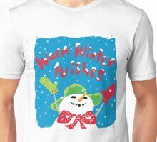 Snowboy's warm winter wishes Unisex T-Shirt
