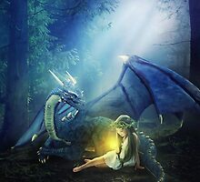 Girl with a dragon by Liancary