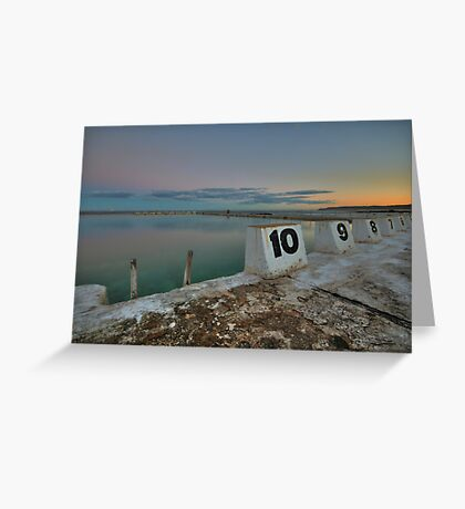 Merewether Baths at Dusk 9 Greeting Card