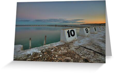 Merewether Baths at Dusk 9 by Mark Snelson