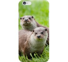 European otters iPhone Case/Skin