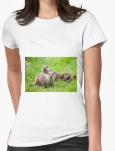European otters Womens Fitted T-Shirt
