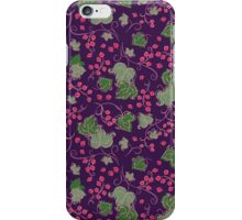 Bright Vintage Berries and Leaves Wallpaper.  iPhone Case/Skin