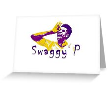 Swaggy P Stencil Design Greeting Card