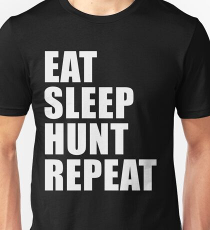 Eat Sleep Hunt Repeat Sport Shirt Funny Cute Gift For Basketball Team Player Unisex T-Shirt