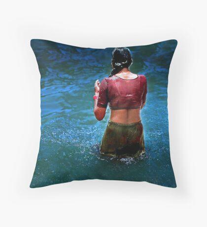 *TAKING BATH* Throw Pillow