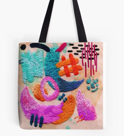 abstract embroidery Tote Bag