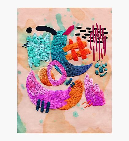 abstract embroidery Photographic Print