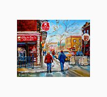 CANADIAN PAINTINGS OF CITY SCENES AND CITY SHOPS BY CANADIAN ARTIST CAROLE SPANDAU Unisex T-Shirt