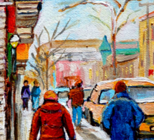 CANADIAN PAINTINGS OF CITY SCENES AND CITY SHOPS BY CANADIAN ARTIST CAROLE SPANDAU Sticker