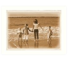 """Kids on the Beach"" Art Print"
