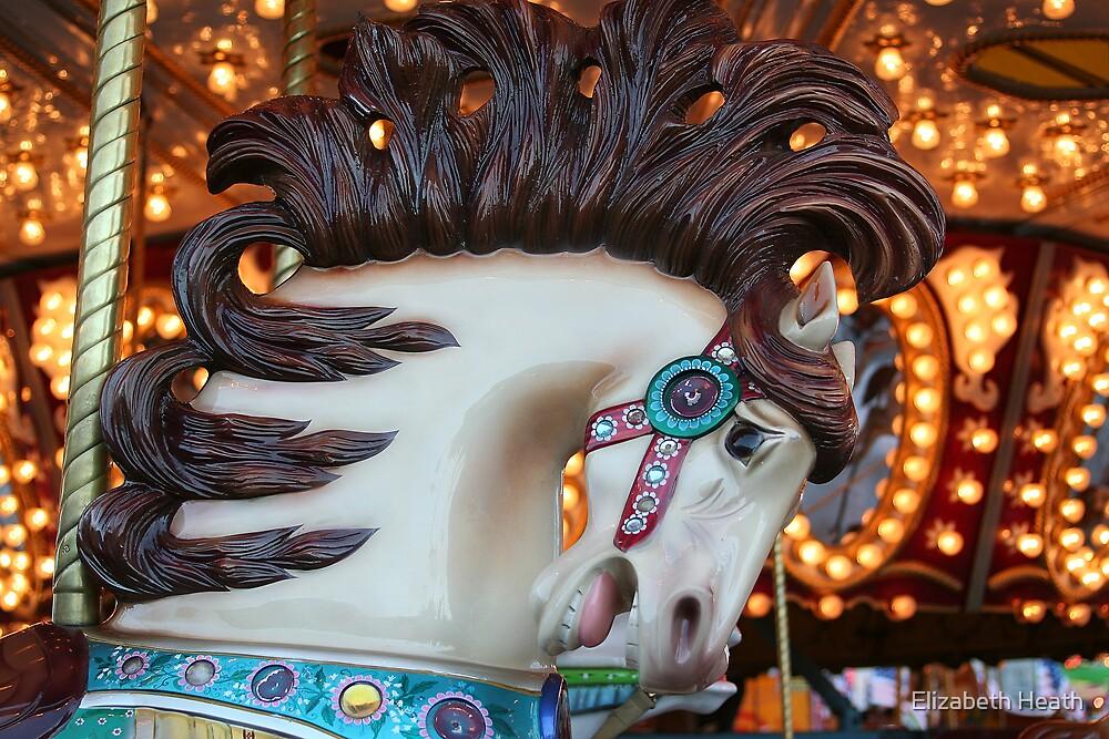 carrousel horse by Elizabeth Heath