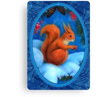 The Squirrel in winter Canvas Print