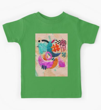 abstract embroidery Kids Tee