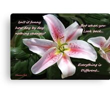 Stargazer Lily with a Question Canvas Print