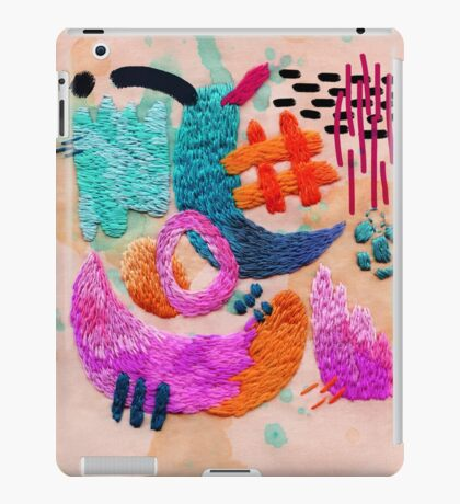 abstract embroidery iPad Case/Skin