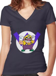 Wario! Women's Fitted V-Neck T-Shirt