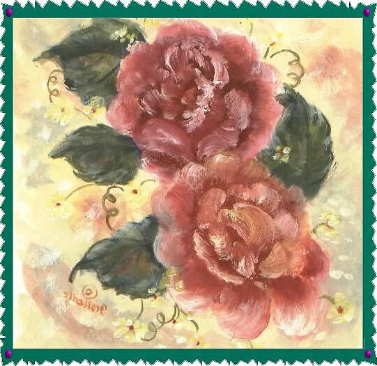 roses in pink by francelle  huffman