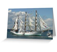 Tall Ship Cuauhtemoc Greeting Card