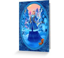 Christmas Snow Maiden Greeting Card