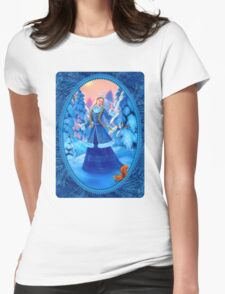 Christmas Snow Maiden Womens Fitted T-Shirt